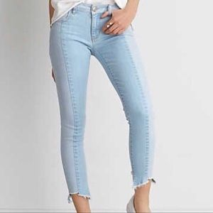 American Eagle Two Tone Jegging Crop Haw Rem Jeans